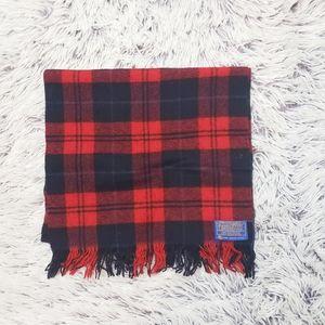 Pendleton Red Plaid Wool Scarf